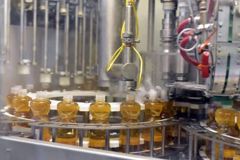 Apple-juice factory, bottling, apple juice - LYF00976