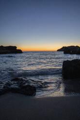 Beach during sunset. Ibiza, Balearic Islands, Spain - AFVF04300