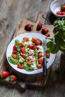 Green mixed salad with green asparagus - SBDF04125