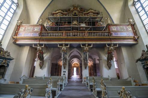 Interior of church at Princely Abbey of Corvey, Germany - RUN03446