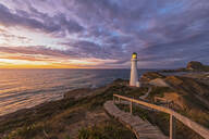 Lighthouse at sunset, Castlepoint, New Zealand - FOF11254