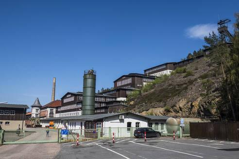Germany, Lower Saxony, Goslar, Gate of Mines ofRammelsberg - RUNF03453