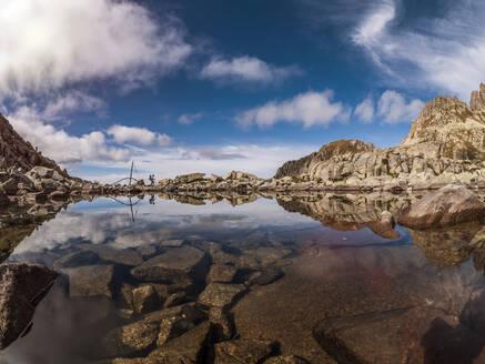 Mountain lake at Cima d'Asta, Fiemme Alps, Trentino, Italy - LAF02447