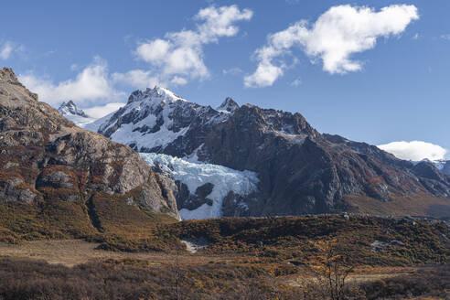 Piedras Blancas glacier in autumn, El Chalten, Santa Cruz Province, Argentina, South America - RHPLF13146