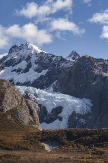 Piedras Blancas glacier in autumn, El Chalten, Santa Cruz province, Argentina, South America - RHPLF13149