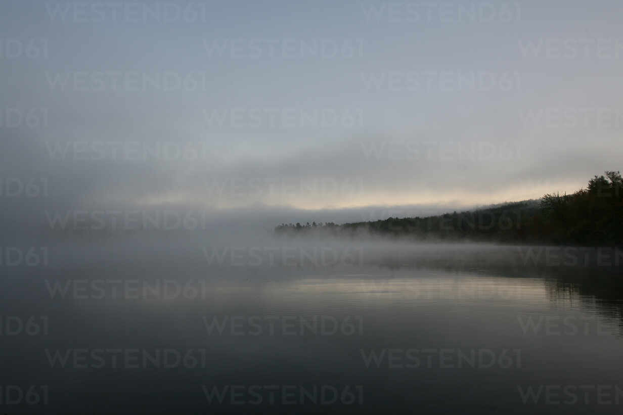 Misty twilight tranquil pond in Maine. - CAVF70491 - Cavan Images/Westend61