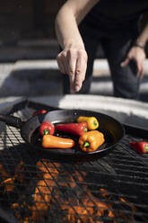 Barbecueing bell peppers - PSIF00341
