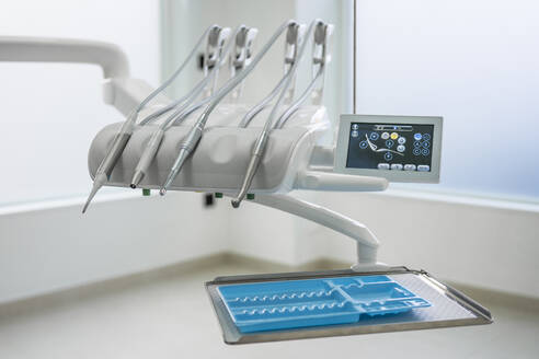 Dentist chair and equipment in dental clinic - DLTSF00354