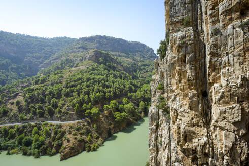 Reservoir on the Guadalhorce River, Natural Site of Desfiladero - CAVF71595