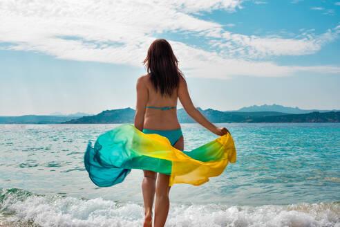 Woman enjoying beach - CUF54166
