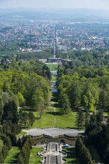 Germany, Hesse, Kassel, Aerial view of Bergpark Wilhelmshohe - RUNF03492
