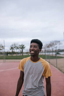Portrait of teenager, basketball player - GRCF00074