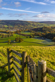 View of Hope in the Hope Valley, Derbyshire, Peak District National Park, England, United Kingdom, Europe - RHPLF13512