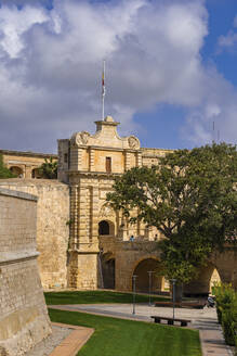 Malta, Mdina, Mdina Gate - Vilhena Gate to Silent City, Baroque style architecture, 1724 - ABOF00484