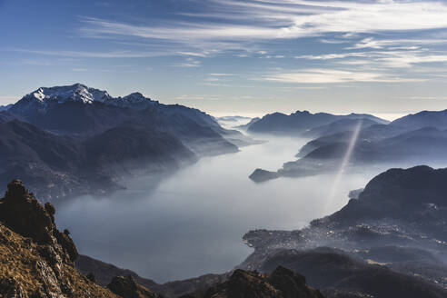 Panoramic view on Lake Como from the mountains, Italy - MCVF00187
