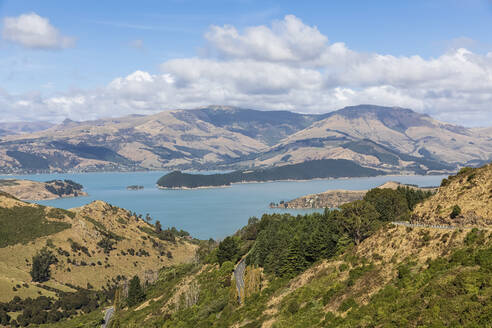 New Zealand, Governors Bay, Scenic view of Thomson Scenic Reserve - FOF11471