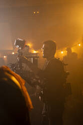 Cameraman at work on movie set - AFVF05220