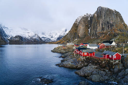 Townscape of Hamnoy, Lofoten, Norway - DGOF00096