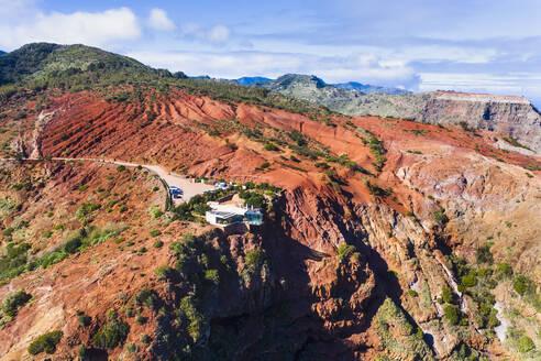 Spain, Canary Islands, Agulo, Aerial view ofMiradordeAbranteobservation point - SIEF09494