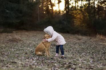Girl with dog - JOHF06257