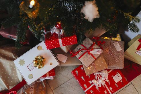 Presents under Christmas tree - JOHF06545