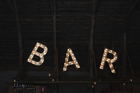 Illuminated bar sign - JOHF06632