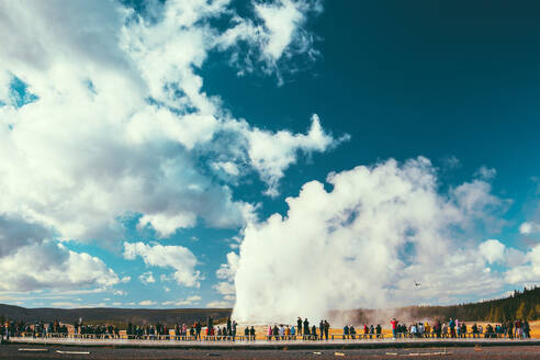 Yellowstone National Park Landscape Geysers, Hotsprings USA, Wyoming - CAVF73824