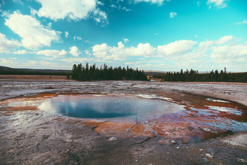 Yellowstone National Park Landscape Geysers, Hotsprings USA, Wyoming - CAVF73836