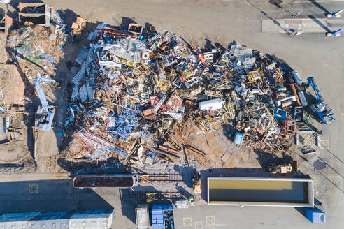 Aerial view of heap of garbage - JOHF07790