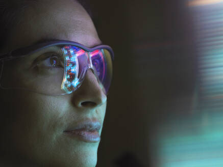Reflection of a circuit board on glasses - ABRF00694