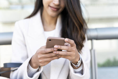 Close-up of woman using smartphone - AFVF05370