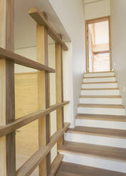 Wood stairs in home showcase interior - HOXF04907