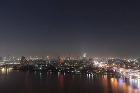 City view at night, Rama III Bridge, Bangkok, Thailand - CHPF00647