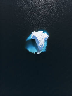 Aerial view melting polar iceberg Greenland - HOXF05105