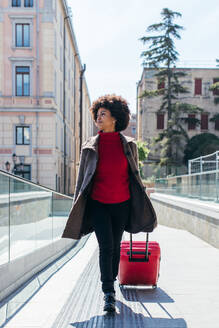 Smart businesswoman going for business trip - CAVF75698