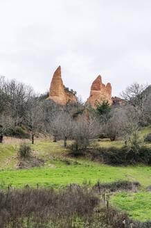 View to Mina de Oro Romana, former gold mine, Las Medulas, Castile and Leon, Spain - DGOF00526