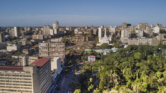 Mozambique, Maputo, Aerial view of Baixa de Maputo downtown - VEGF01634