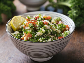 Variation of traditional tabbouleh salad with kale instead of parsley - HAWF01020