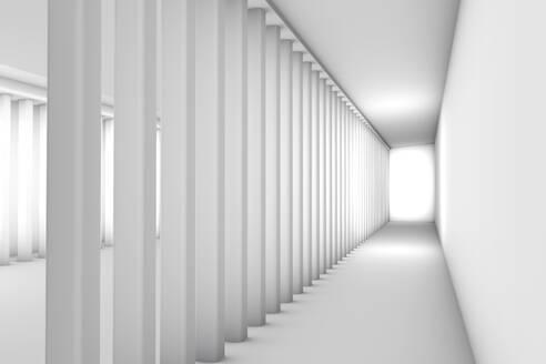 Three dimensional render of bright futuristic interior - SPCF00546