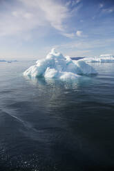 Polar ice melting on sunny Atlantic Ocean Greenland - HOXF05793