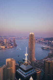 Aerial View of Victoria Harbour in Hong Kong - AAEF07723