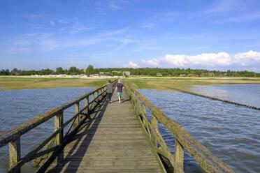 Germany, Schleswig-Holstein, Husum,Old wooden pier - LBF02990