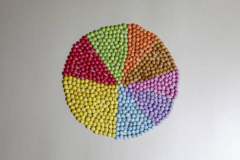 Colorful pie chart - RBF07553