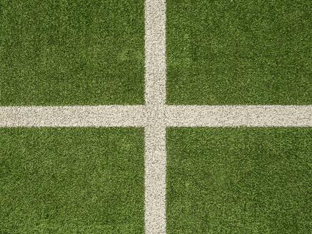 Spain, Aerial view of soccer field - JMF00491