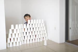 Annoyed little boy sitting behind - HMEF00891