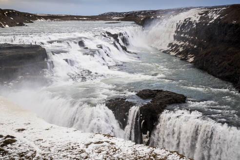 Iceland, Gullfoss waterfall in summer - DAMF00363