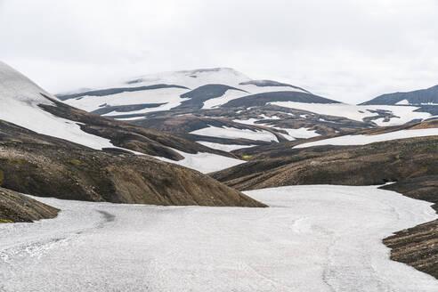 Snowfields Near Landmannalaugar In Iceland Highlands - CAVF80651