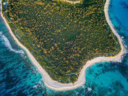 Aerial View of Punta Arena Beach Mona Island, Puerto Rico. - AAEF08190