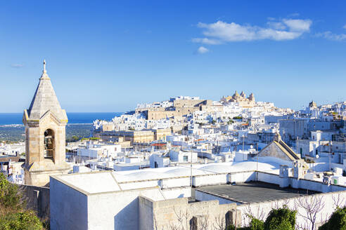 The white village of Ostuni called The White City, Ostuni, Apulia, Italy, Europe - RHPLF14815