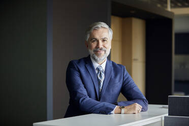 Portrait of confident mature businessman in office - RBF07657